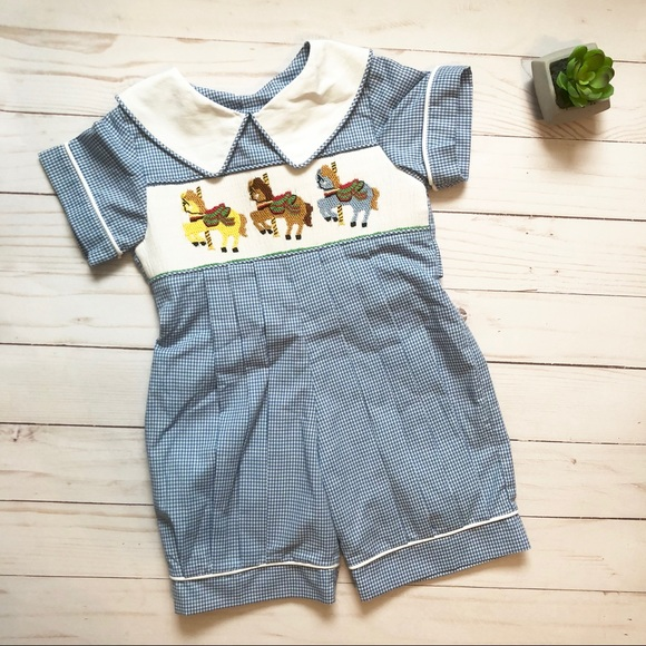 1dad087a9 Mom & Me One Pieces | Smocked Carousel Outfit | Poshmark